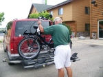 Dave Loading our Bikes