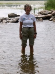 Joyce Wading in the Mississippi