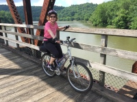 Martha on Hiwassee River Bridge